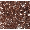 Twin 2-hole Bead 2.5x5mm Transparent Crystal Copper Lined